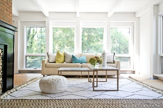 Geometric Drop Cloth Rug