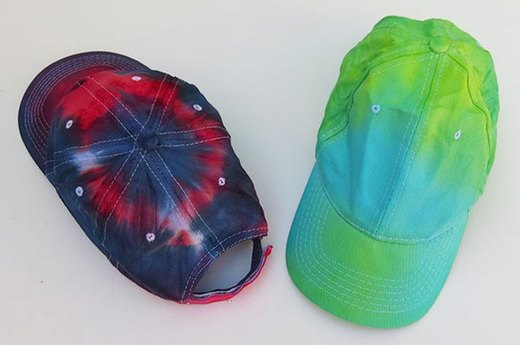 Tie-Dye a Baseball Cap for the Big Game