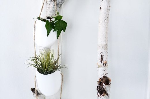 Faux Ceramic Hanging Planter