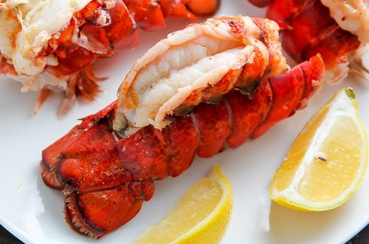 Steamed Lobster Tails