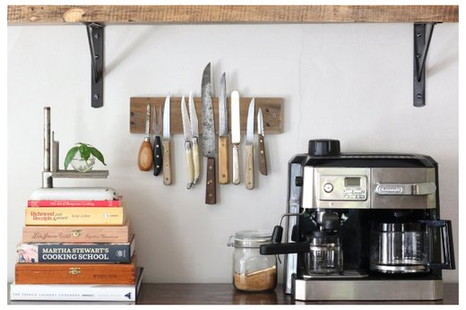 Rustic Magnetic Knife Rack