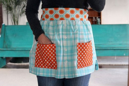Make Aprons From Shirts