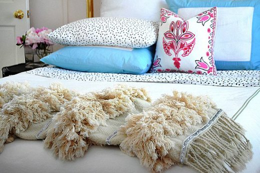 For the Master Bedroom: Add Style With a DIY Moroccan Wedding Blanket