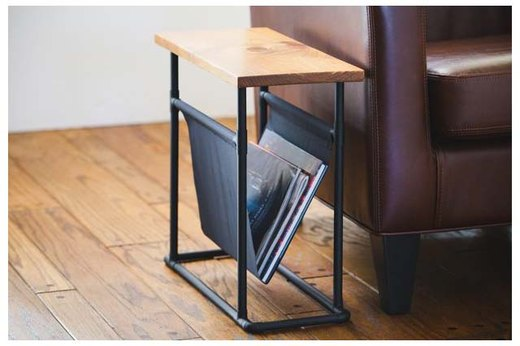 Side Table + Magazine Rack