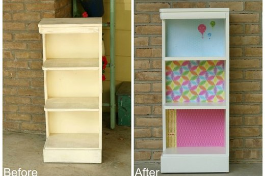 Dress Up a Plain Bookshelf