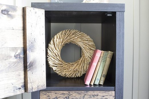 Create A Rustic Cube Stacking Shelf