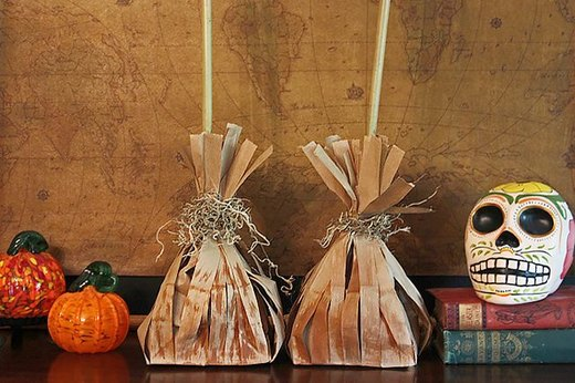 Witch's Broom Treat Bags