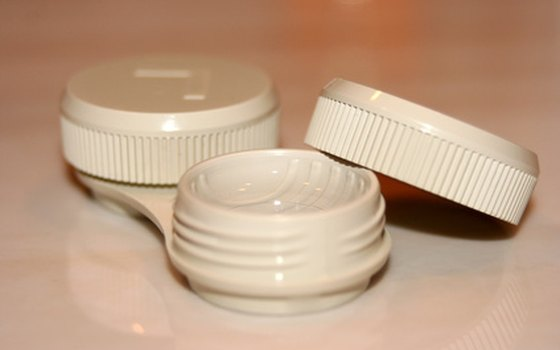 Pack the contact lens case and eye-care products in your carry-on luggage.