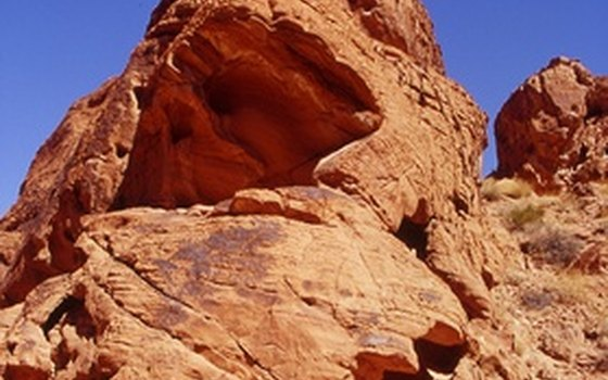 A typical red sandstone formation in the Valley of Fire State Park.