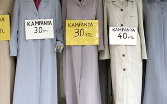 Traditional clothing on sale at a shop.