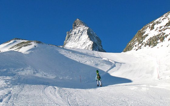 You'll find wide, groomed runs on the Zermatt glacier.