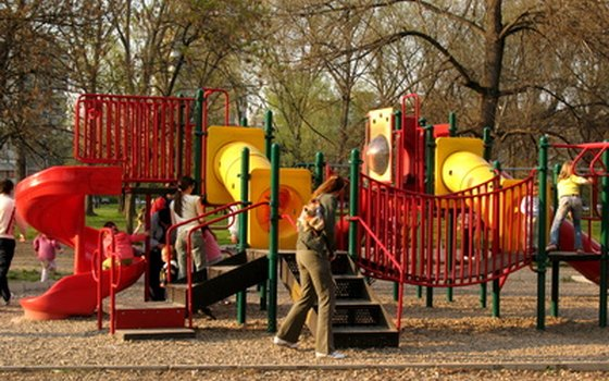 Most parks offer a children's playground.