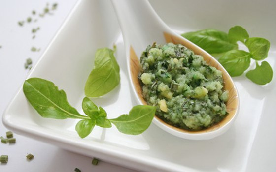 Pesto is the local specialty.