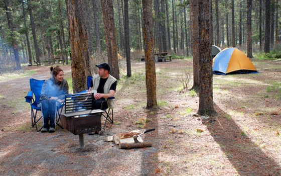Enjoy an outdoor breakfast over a campfire.