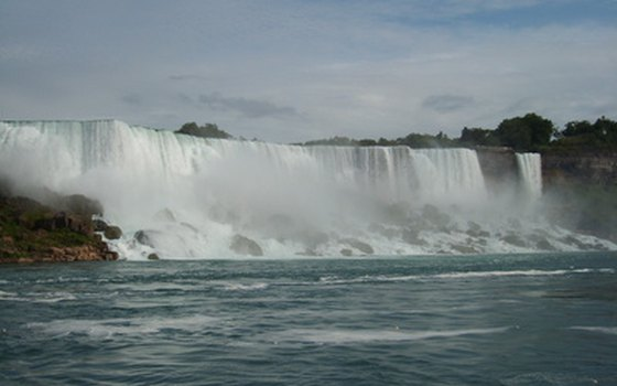 Get a good view of the American and Bridal Veil falls from across the river in Ontario.