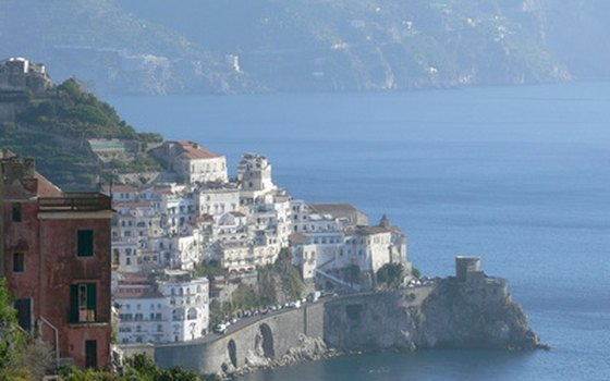 Towns cling to the cliffs along the Amalfi coast