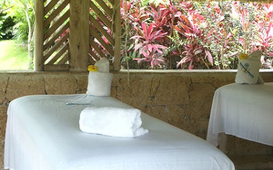 Many spas offer treatments outdoors.