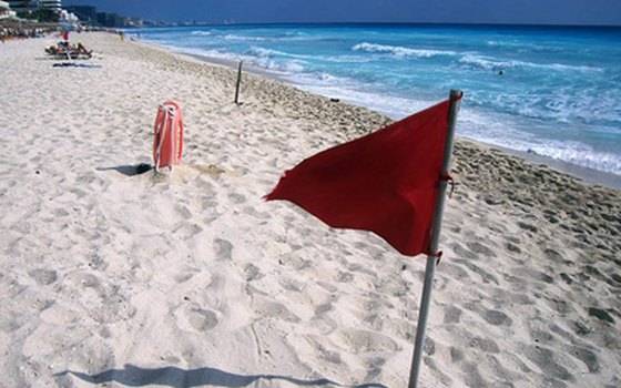 Visitors should always heed beach warning flags.