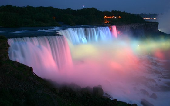 Leave your hotel room for a nighttime stroll to see the falls illuminated with colorful lights.