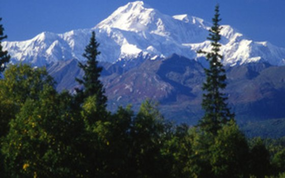 Some snowmobile tours provide access to majestic Mount McKinley.