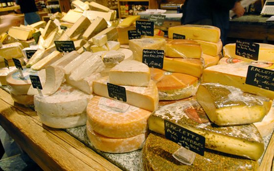 Try French cheeses on a gastronomic tour.