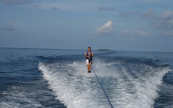 Water skiing is one of the most popular activities at Reed Bingham State Park.