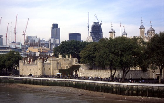 The Tower of London is a landmark along the Thames.