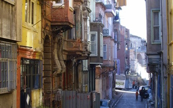 Some Istanbul streets are hard to walk on.