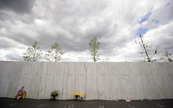 The Flight 93 National Memorial Wall of Names -- dedicated in September 2011.