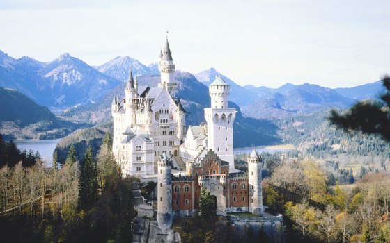 The fairy-tale Neuschwanstein Castle sits in the Bavarian Alps of southern Germany.