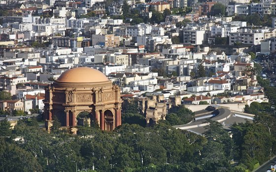 Visit the Palace of Fine Arts, built for the 1915 Panama-Pacific International Exposition.