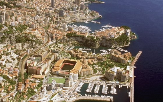 Monaco's shipped-in sand beaches rival others on the Cote d'Azur.