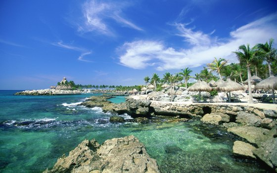Xcaret offers snorkeling in its lagoon teeming with tropical fish.