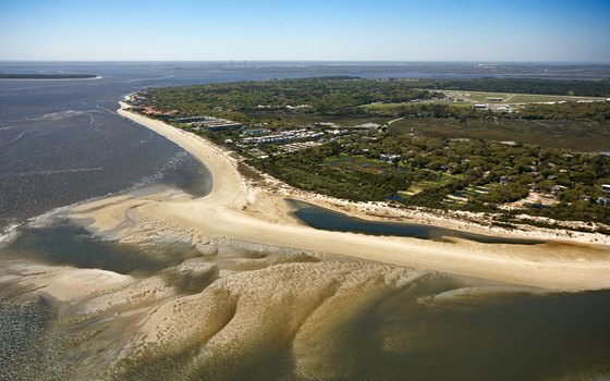 Aerial view of St. Simons island.