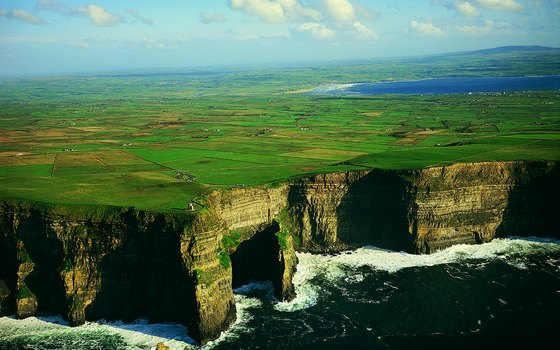 Ireland's Cliffs of Moher offer adventure travelers extravagant ocean views.