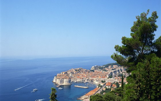 The Croatian coastal city of Dubrovnik greets cruise ships with its medieval splendor.
