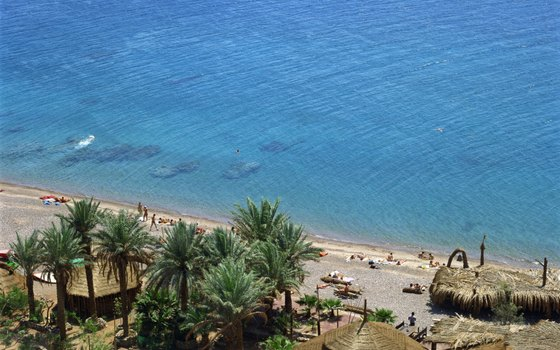 Eilat is a resort town, just a few miles from Aqaba, Jordan.