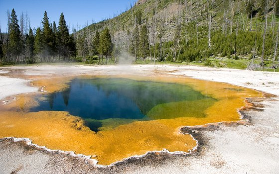 Yellowstone is known for its natural hot springs.