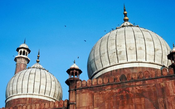 The Jama Masjid mosque in Delhi is popular with pilgrims.