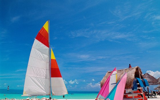 Visitors can opt for action or simply sunbathing on Cancun's beaches