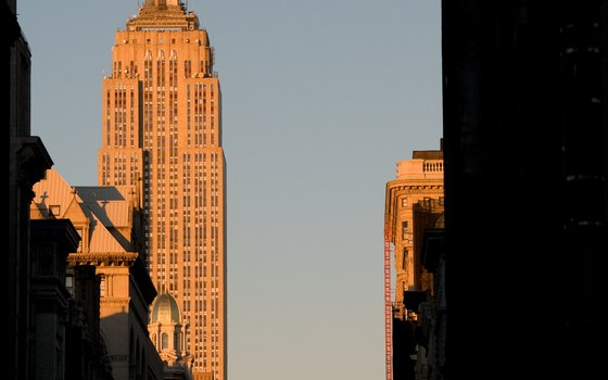 The Empire State Building rose from the ground in less than two years.