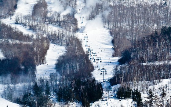 Mont Tremblant is Quebec's largest ski resort, with every amenity and excellent slopes.