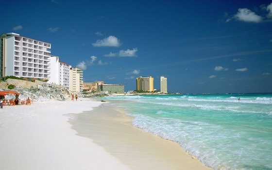 Efforts to repair Cancun's hurricane-damaged beaches have met with some success.