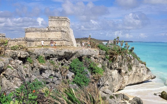 The Riviera Maya not only offers beautiful beaches at Tulum, but also Mexico's only significant beachfront Mayan archeological ruins.