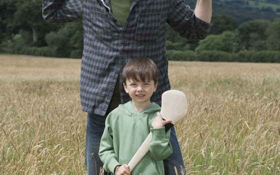 Hurling is a traditional Irish sport.