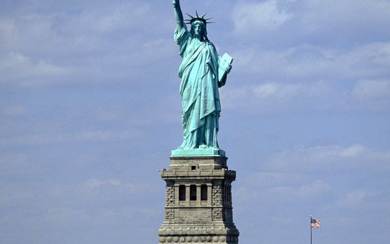The Statue of Liberty is one of the world's most recognized monuments.