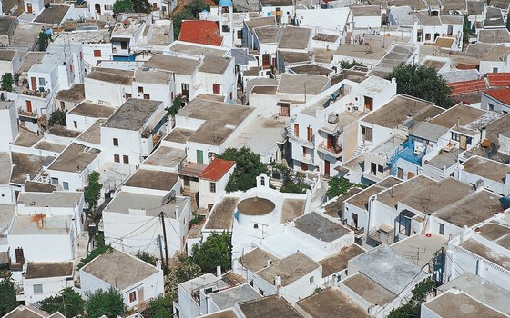 Aerial view of Skyros, Greece