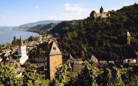 Views of castles make the Middle Rhine Valley especially picturesque.