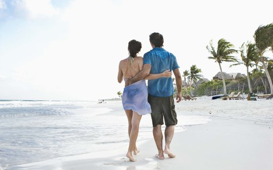 Playa del Carmen beaches are go-to places for North American winter vacationers.