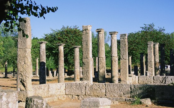 Olympia, Greece, boasts ancient ruins and history of the Olympics.